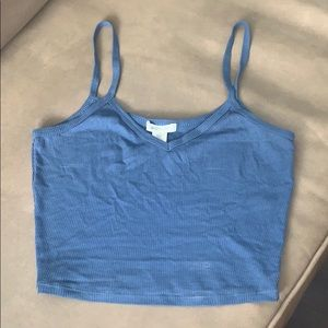 Size Small Blue Cropped Tank